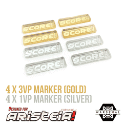 Aristeia! Chrome Victory Point Tokens