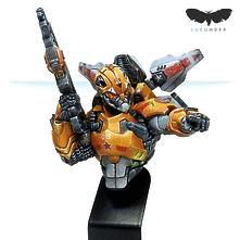 Tiger Soldier Bust